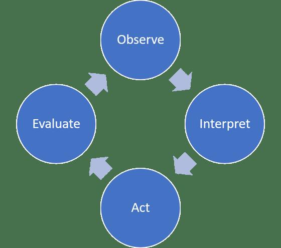 Observe Interpret Act Evaluate